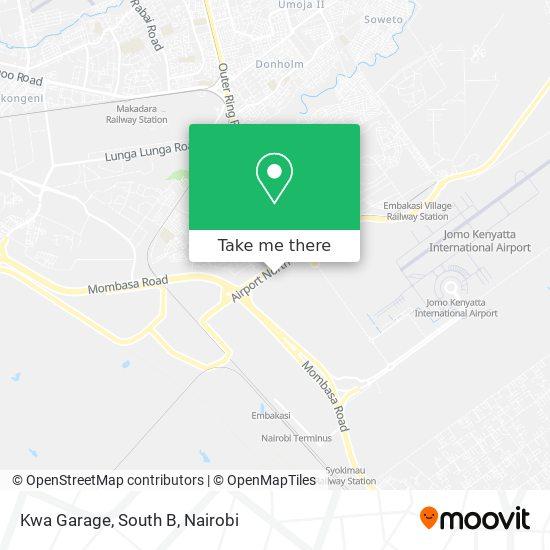 Kwa Garage, South B map