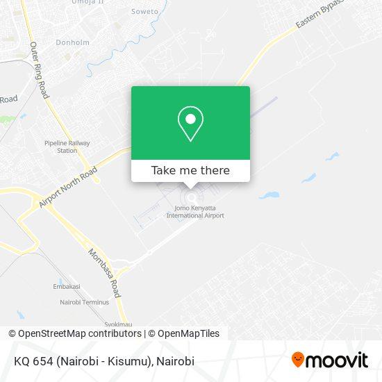 KQ 654 (Nairobi - Kisumu) map