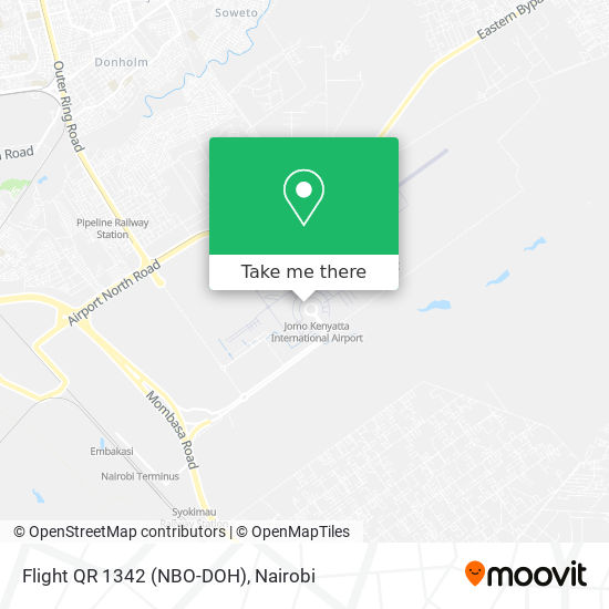 Flight QR 1342 (NBO-DOH) map