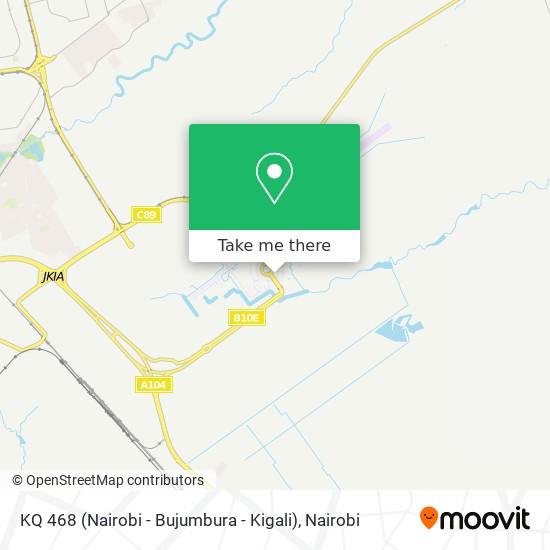 KQ 468 (Nairobi - Bujumbura - Kigali) map