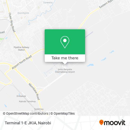Terminal 1-E JKIA map