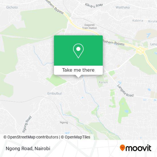 Ngong Road map