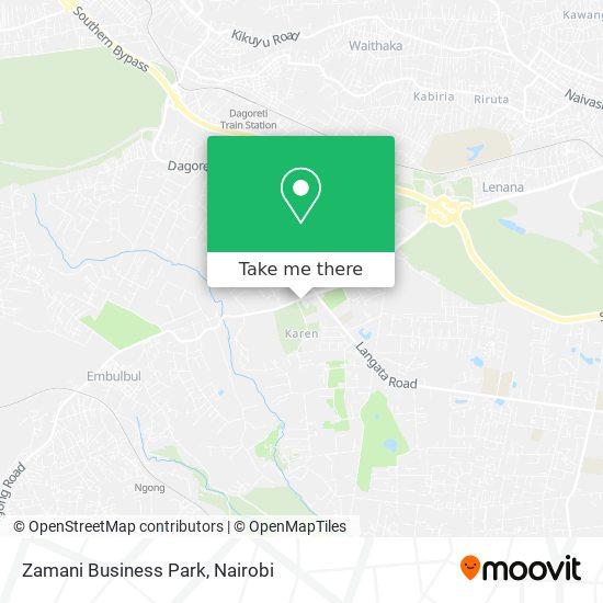 Zamani Business Park map