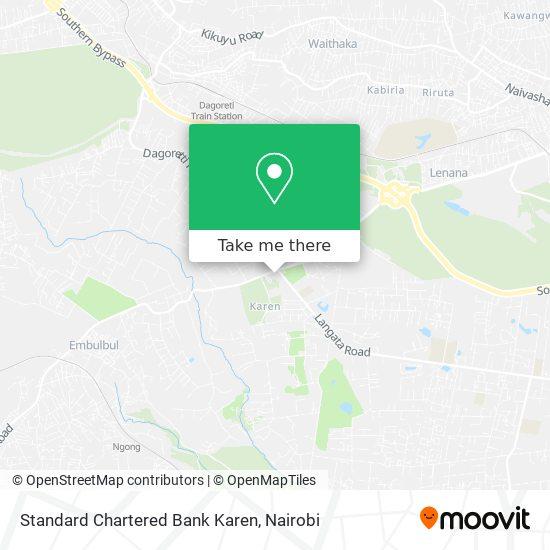 Standard Chartered Bank Karen map