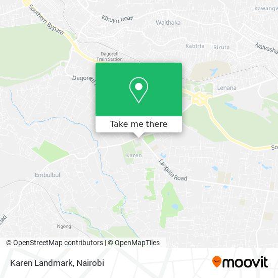 Karen Landmark map