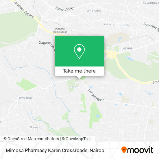 Mimosa Pharmacy Karen Crossroads map