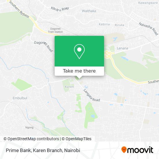 Prime Bank, Karen Branch map