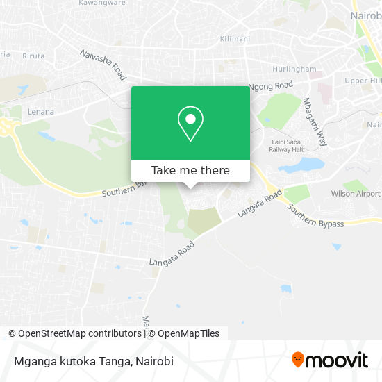 Mganga kutoka Tanga map