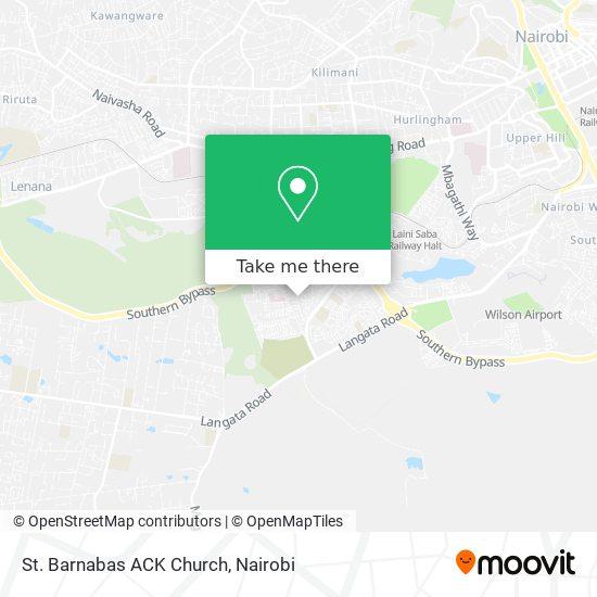 St. Barnabas ACK Church map