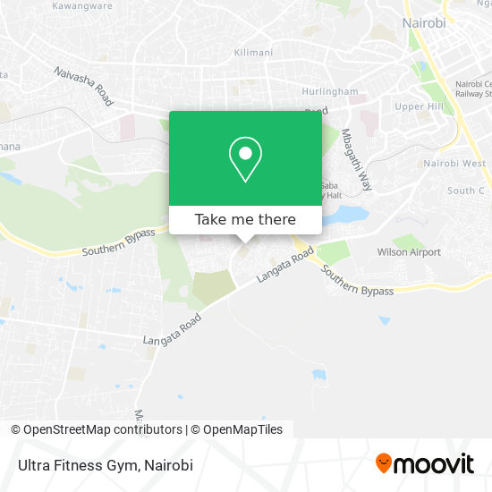 Ultra Fitness Gym map