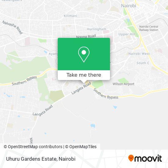 Uhuru Gardens Estate map