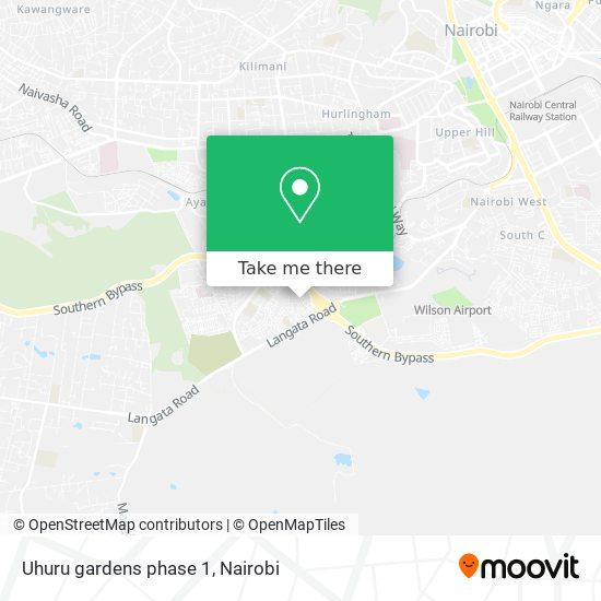 Uhuru gardens phase 1 map