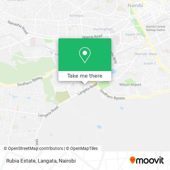 Rubia Estate, Langata map