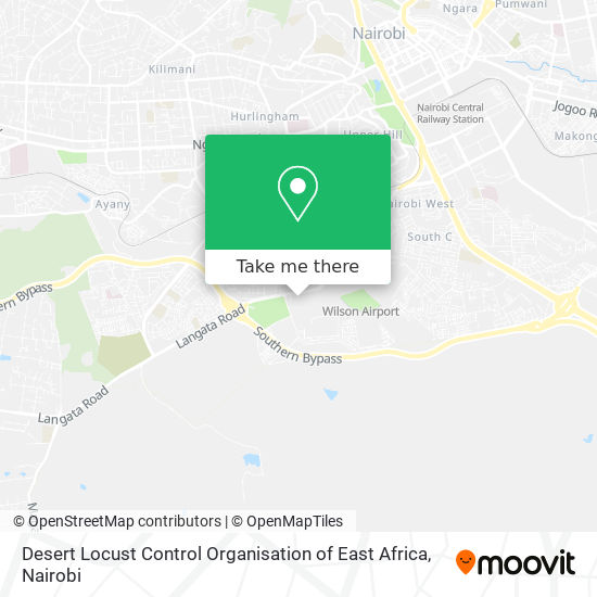 Desert Locust Control Organisation of East Africa map