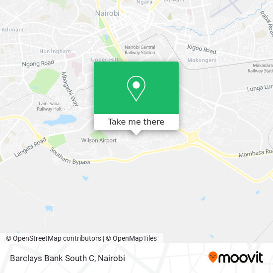 Barclays Bank South C map