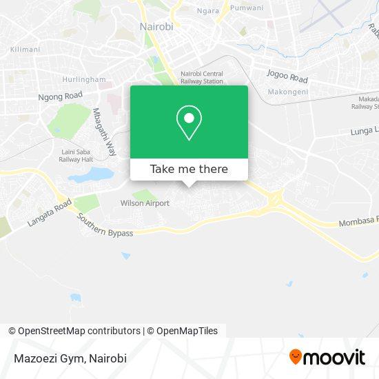 Mazoezi Gym map