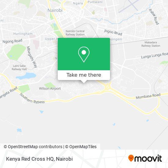 Kenya Red Cross HQ map