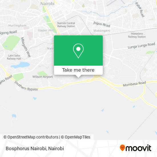 Bosphorus Nairobi map
