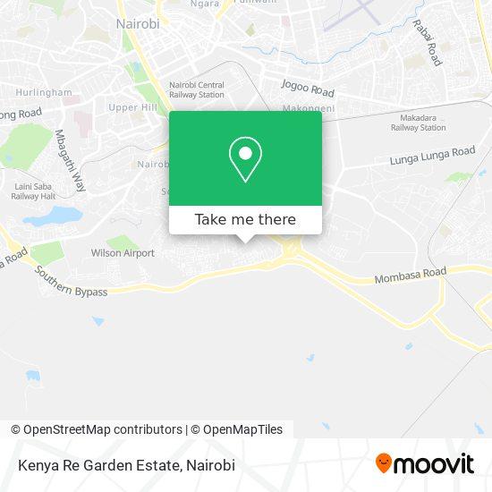 Kenya Re Garden Estate map