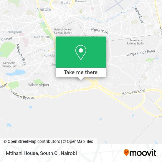 Mtihani House, South C. map