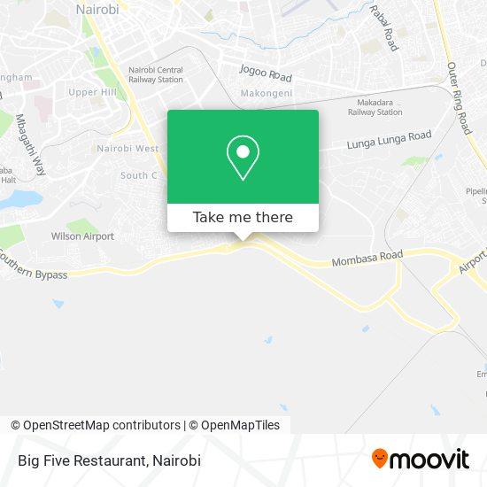 Big Five Restaurant map