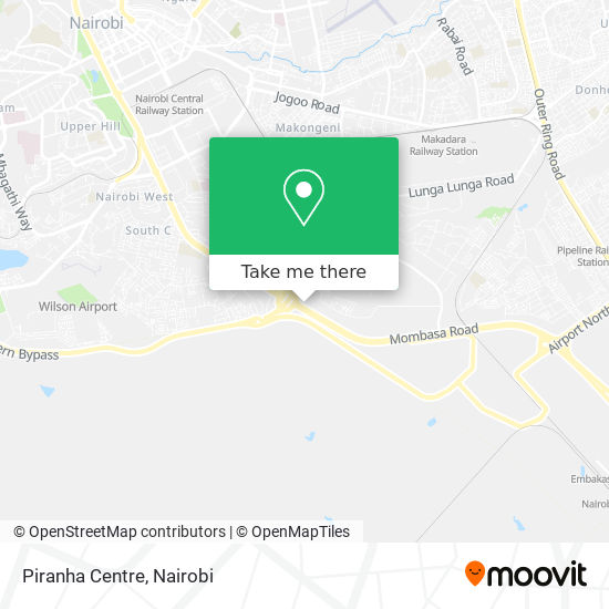 Piranha Centre map