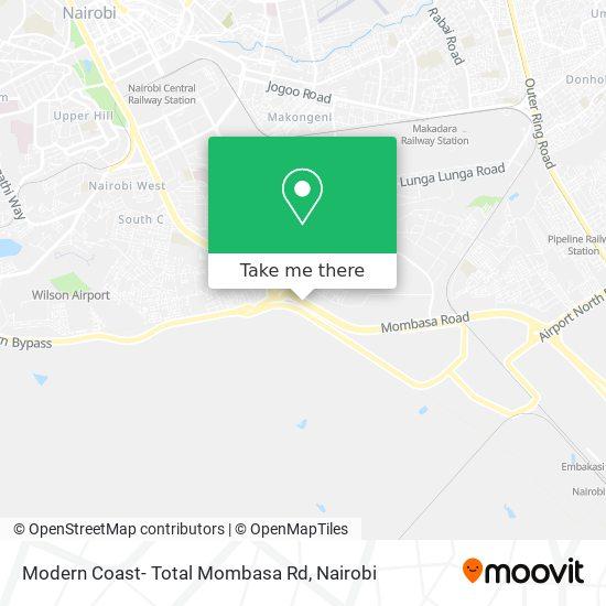 Modern Coast- Total Mombasa Rd map