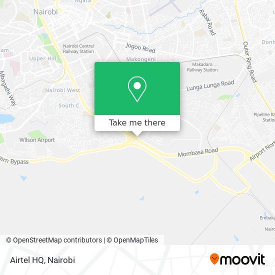 Airtel HQ map
