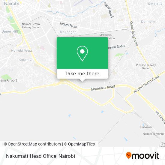 Nakumatt Head Office map