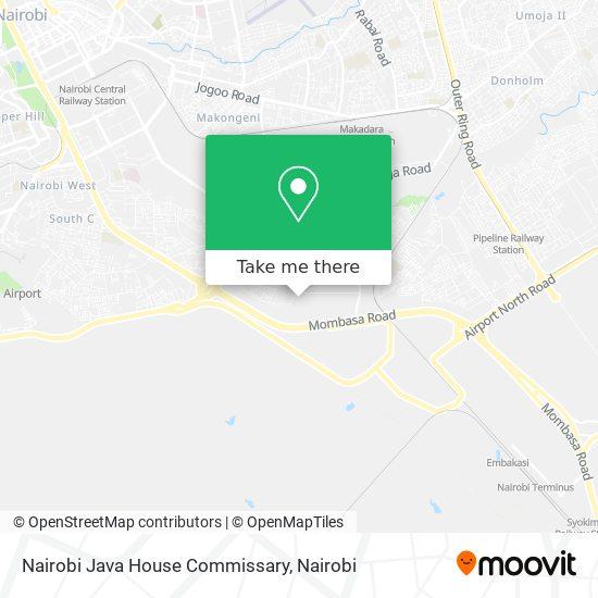 Nairobi Java House Commissary map