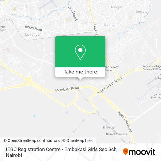 IEBC Registration Centre - Embakasi Girls Sec Sch map