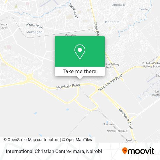 International Christian Centre-Imara map