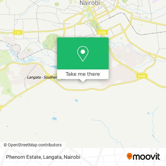 Phenom Estate, Langata map