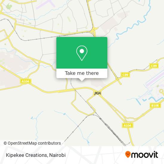 Kipekee Creations map