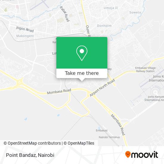 Point Bandaz map
