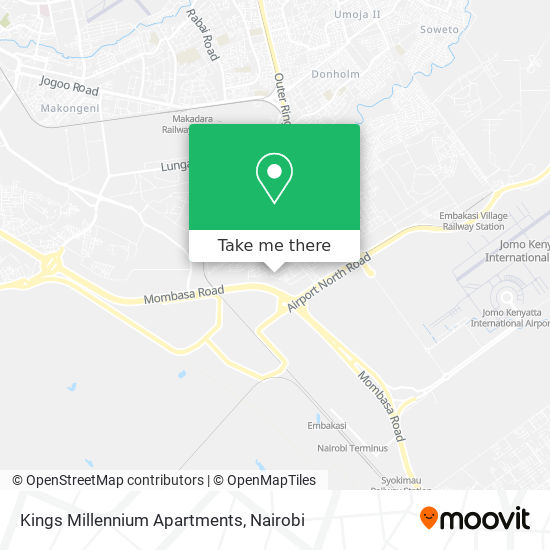 Kings Millennium Apartments map