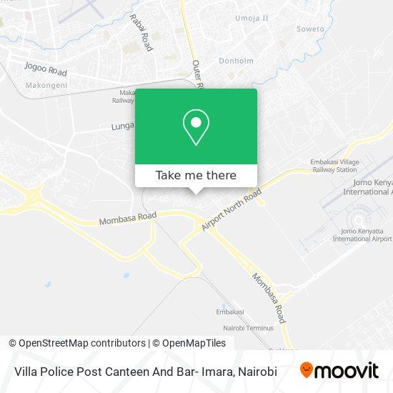 Villa Police Post Canteen And Bar- Imara map
