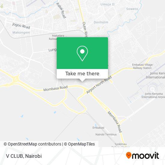 V CLUB map