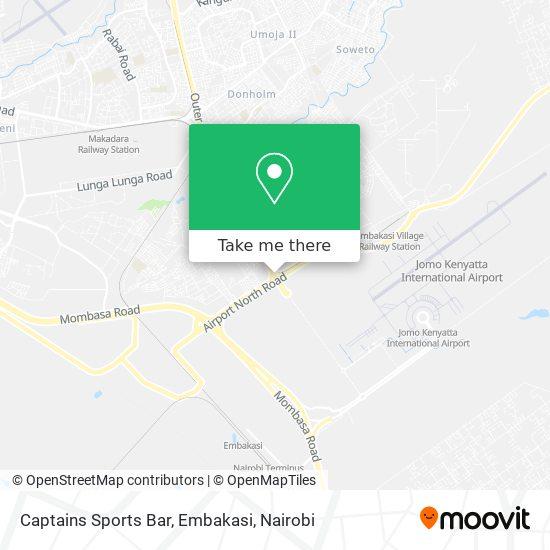 Captains Sports Bar, Embakasi map