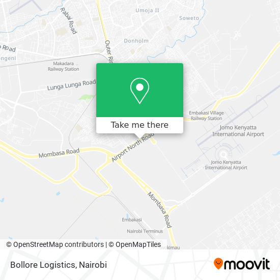 Bollore Logistics map