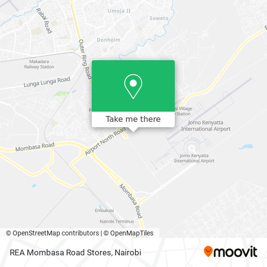 REA Mombasa Road Stores map