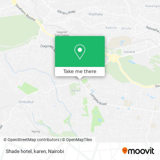 Shade hotel, karen map