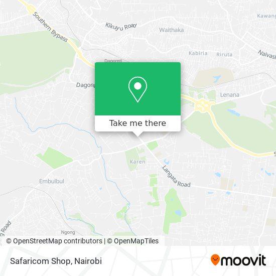 Safaricom Shop map