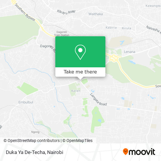 Duka Ya De-Techa map