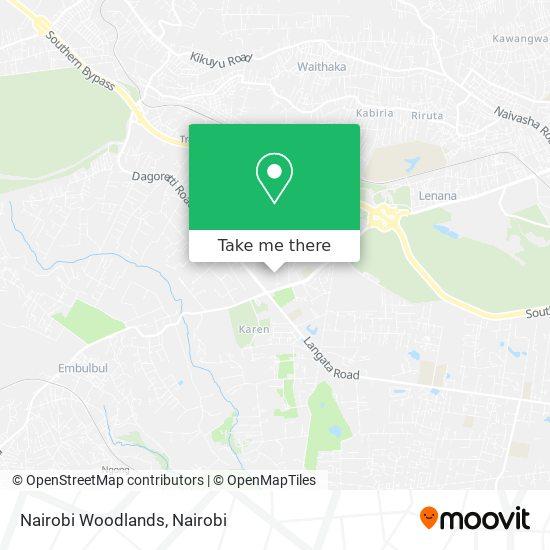 Nairobi Woodlands map