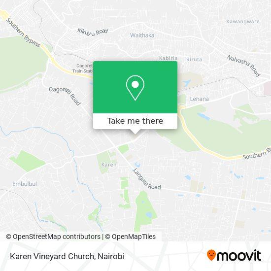 Karen Vineyard Church map