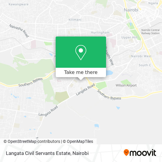 Langata Civil Servants Estate map