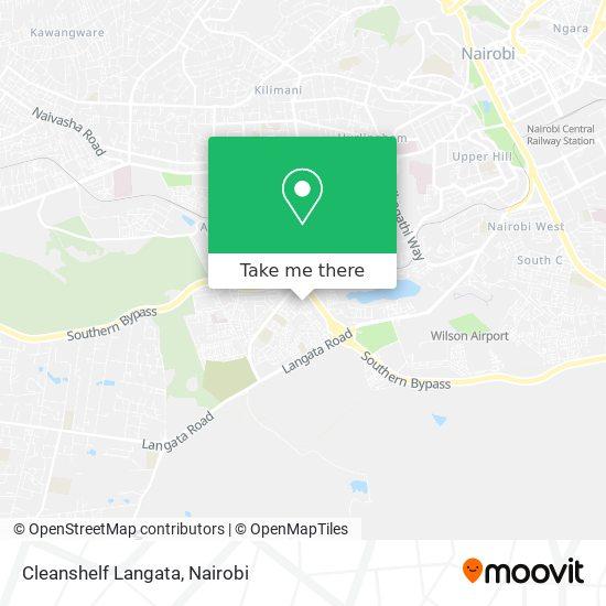 Cleanshelf Langata map