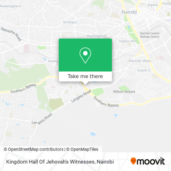 Kingdom Hall Of Jehovah's Witnesses map