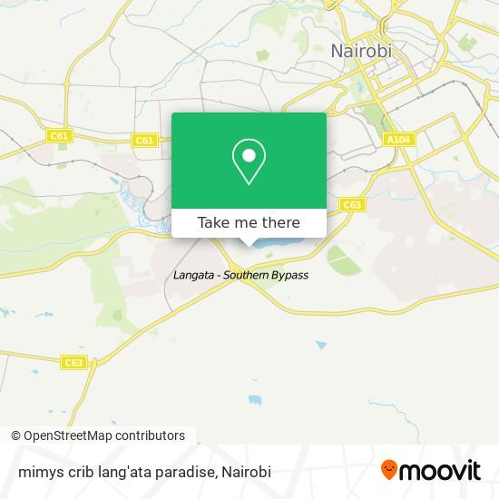 mimys crib lang'ata paradise map